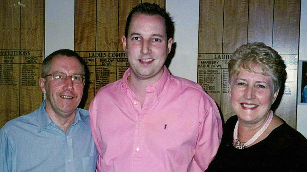 Paul Wilson with his parents Margaret and Keith