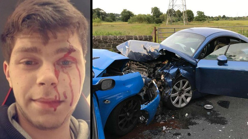Driver who took selfie after A803 crash jailed