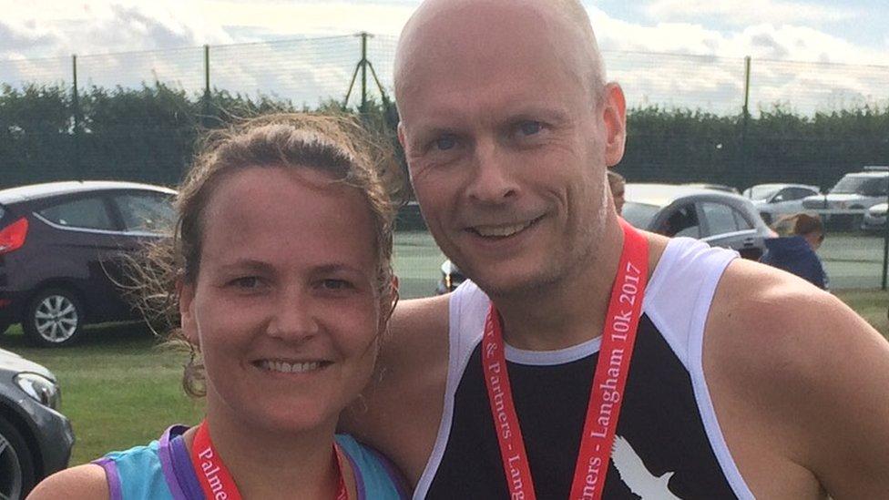 Alex Borrett and husband