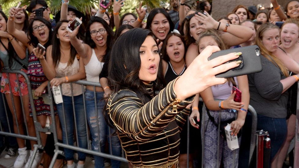 Kylie Jenner takes a selfie