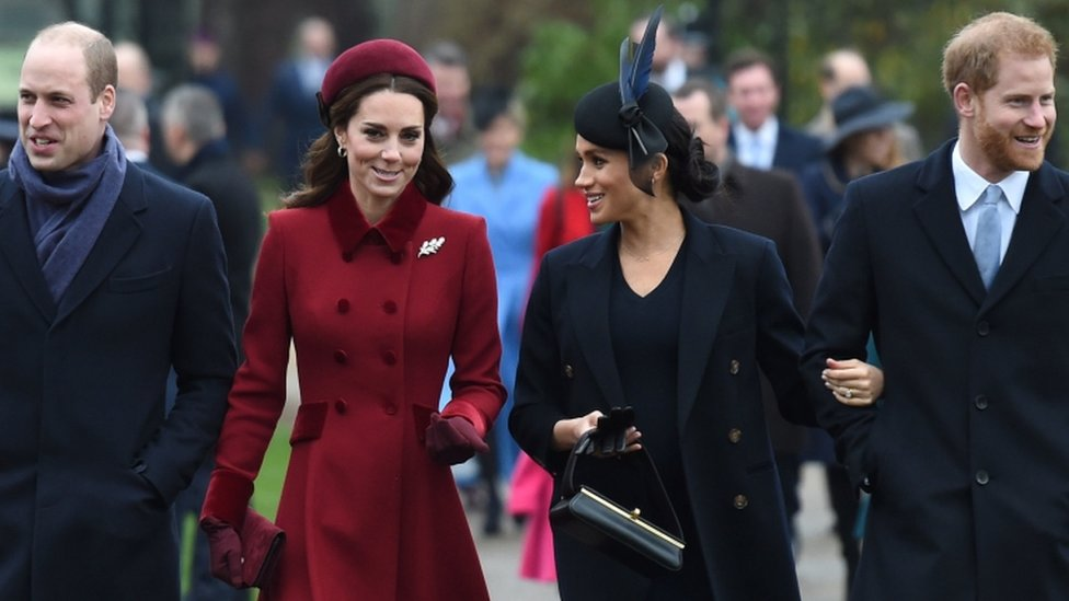 harry and meghan split from william and kate joint charity bbc news bbc com