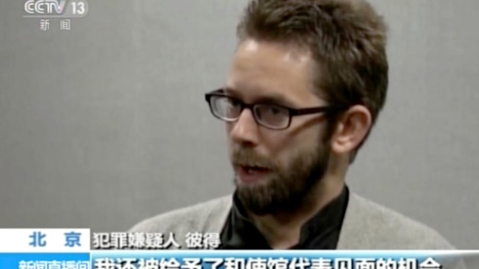 """Peter Dahlin admits to training and supporting unlicensed lawyers in China to take on cases against the government """"in clear violation of the law"""" on Chinese state CCTV 19 and 20 January 2016, in an apparent confession his supporters say must have been forced"""