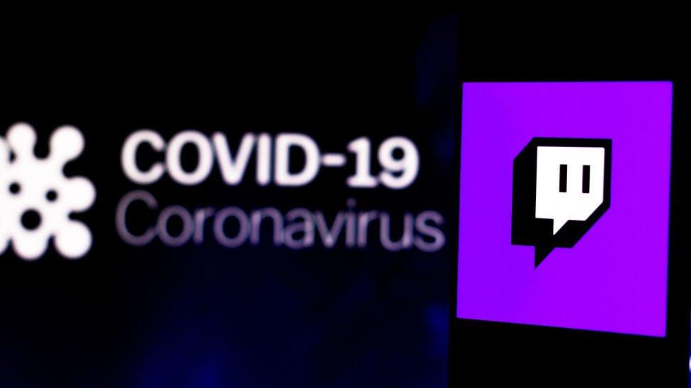 Gráfico de Twitch y coronavirus.