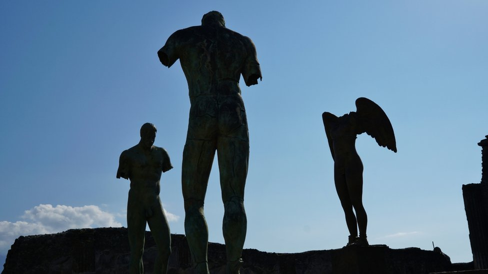 Statues at Pompeii, Italy