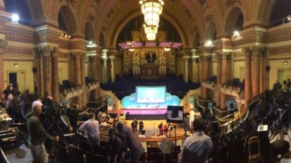 The view of the count at Leeds Town Hall