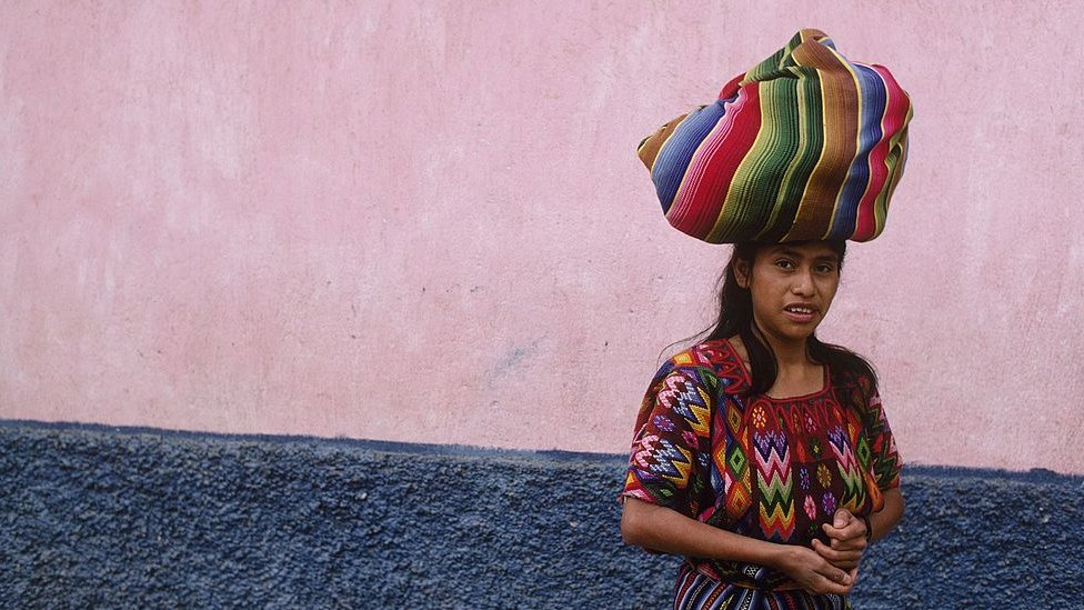 Joven guatemalteca