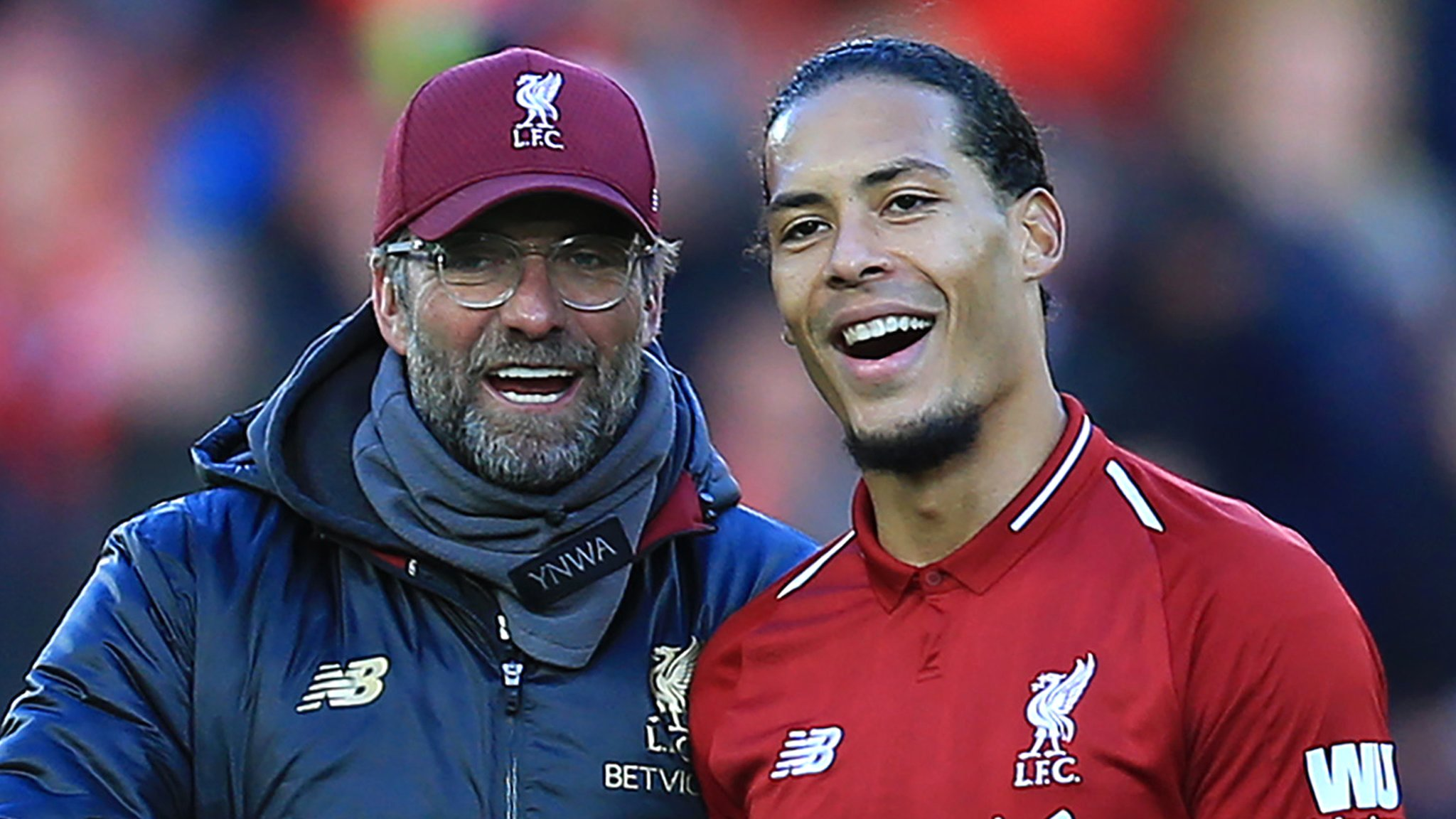 Liverpool: Jurgen Klopp is manager of month as Virgil van Dijk wins player award