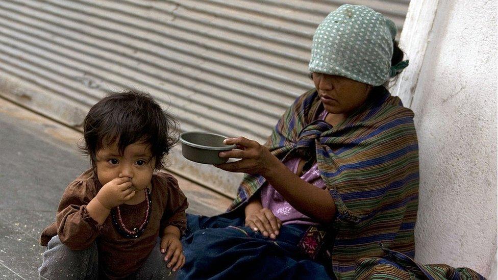 Mendiga en Guatemala