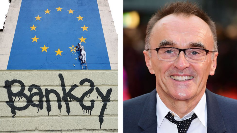 Banksy artwork and Danny Boyle