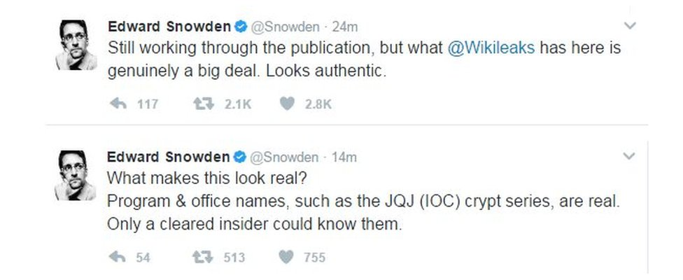 Edward Snowden tweets