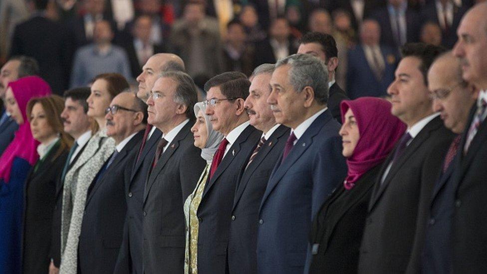 Beşir Atalay, Süleyman Soylu, Mehmet Ali Şahin, Ahmet Davutoğlu, Bülent Arınç ve Ali Babacan