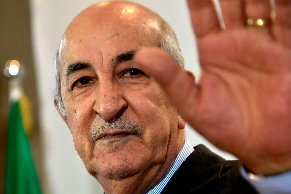 President Abdelmadjid Tebboune in December 2019.