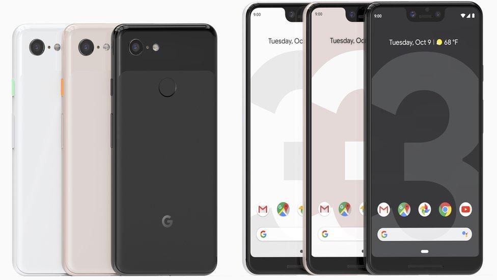 Pixel 3 handsets