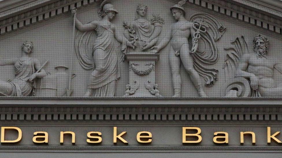 Danske Bank sign on front of building