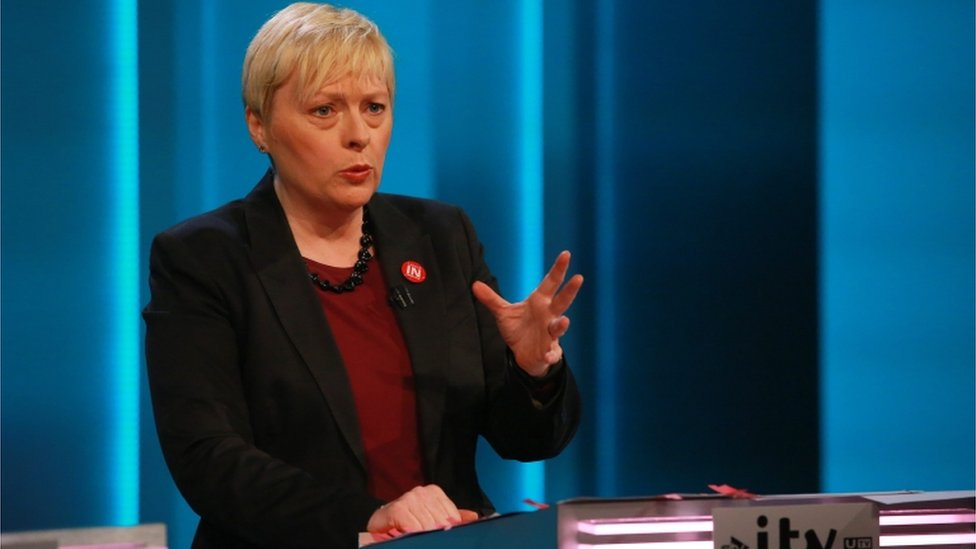 Angela Eagle represents Remain during the ITV EU debate