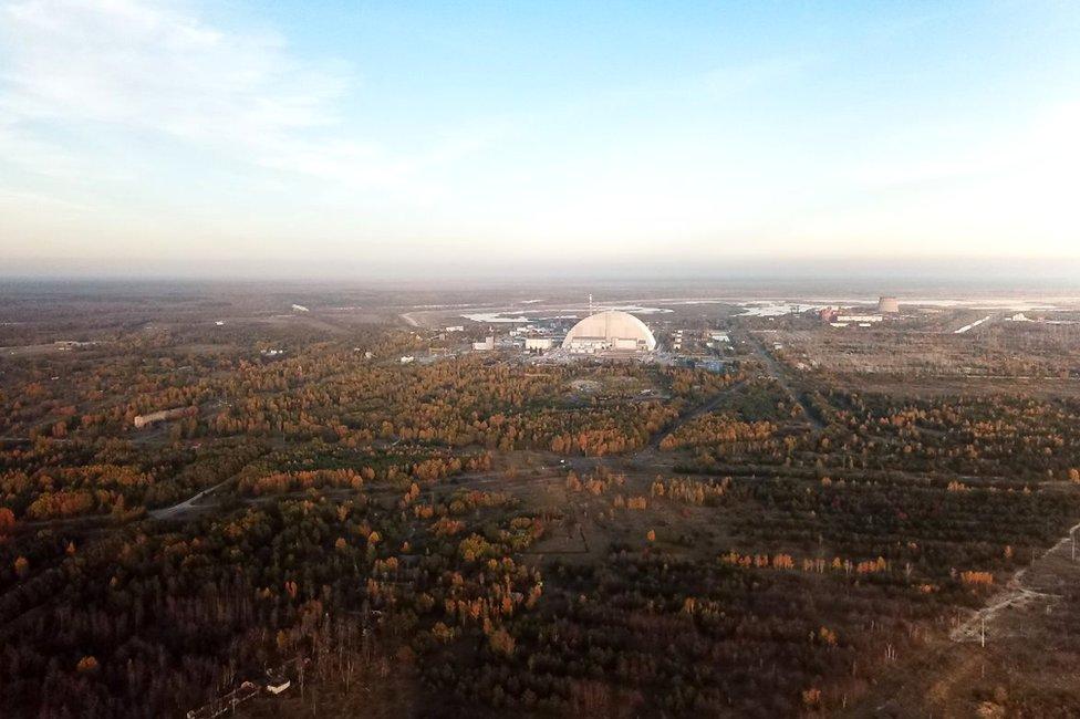 La planta nuclear de Chernobyl.