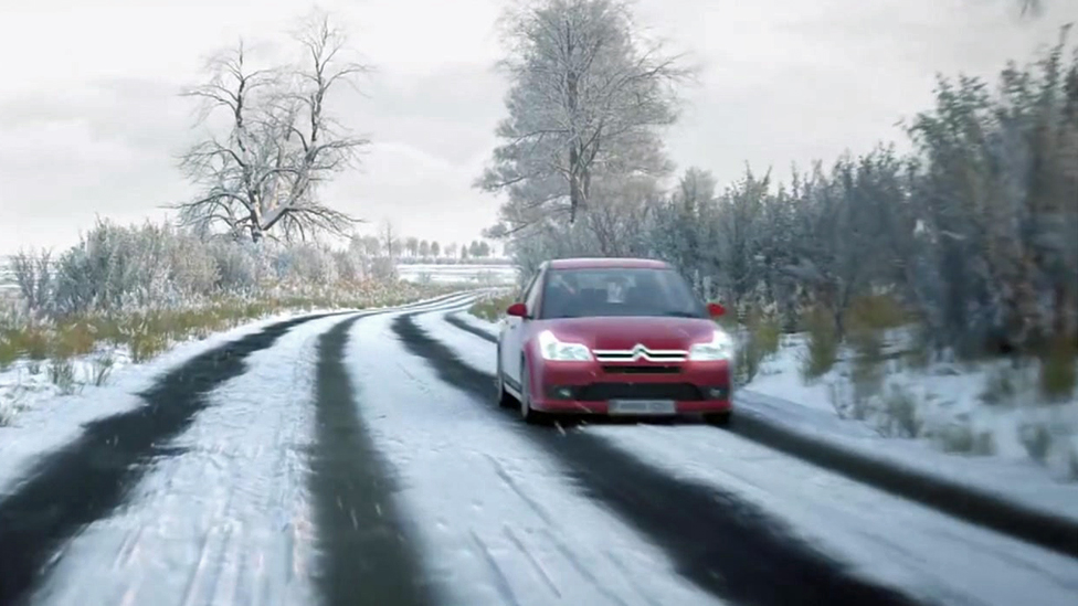 Adverse weather clips in updated driving theory test