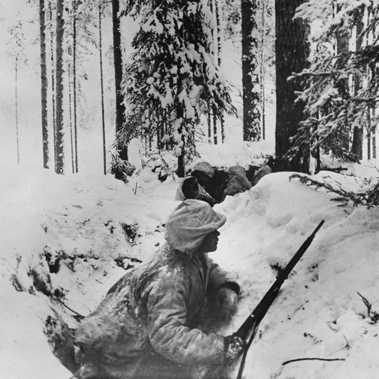 En el invierno de 1939, Finlandia y la Unión Soviética lucharon una guerra bajo un clima inclemente.