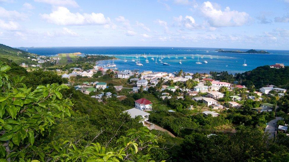 Paisaje de San Vicente y las Granadinas.