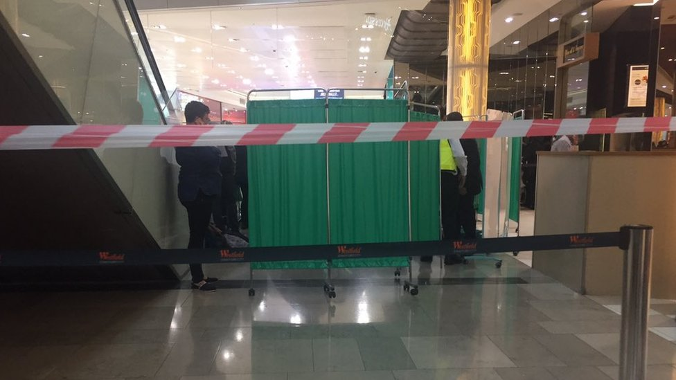 Westfield Shopping Centre: Man 'falls from height'