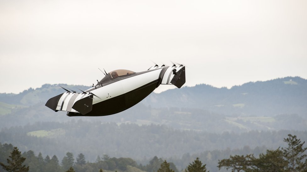 The BlackFly flying car is said to work best when taking off from grassy areas