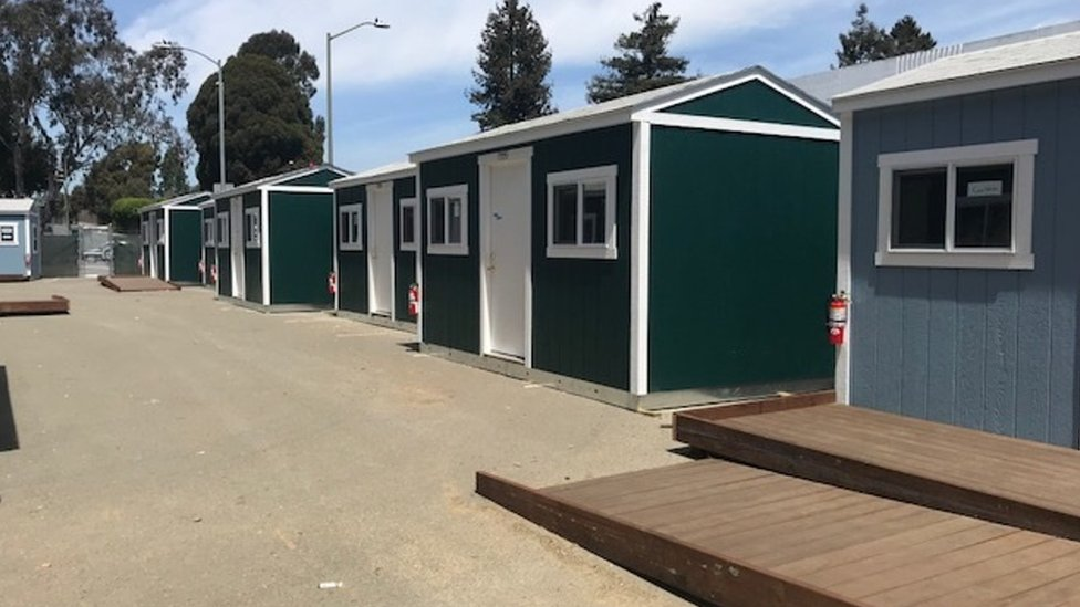 Tuff Shed shelter in Oakland