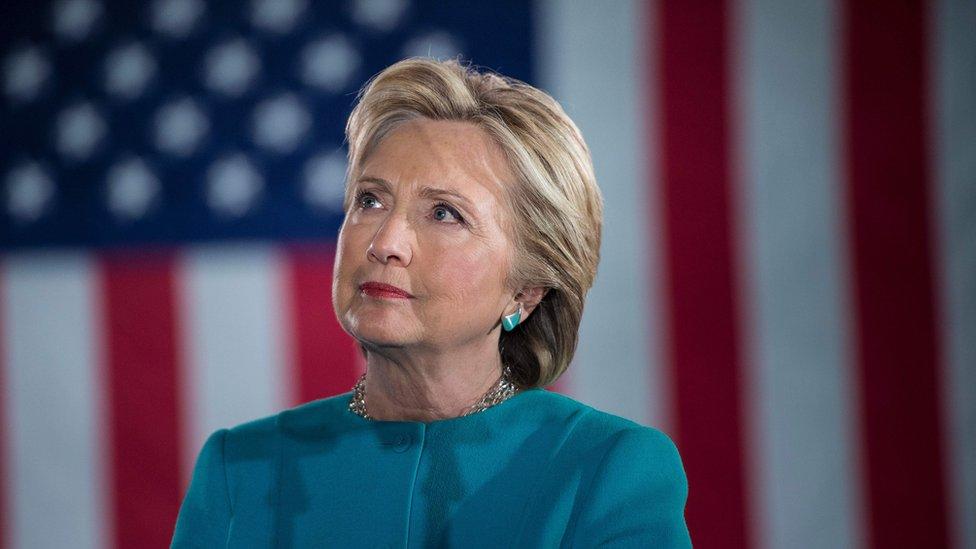 Demokratski predsednički kandidat Hilari Klinton na mitingu u Mančesteru, Nju Hempširu, 6. novembra 2016.