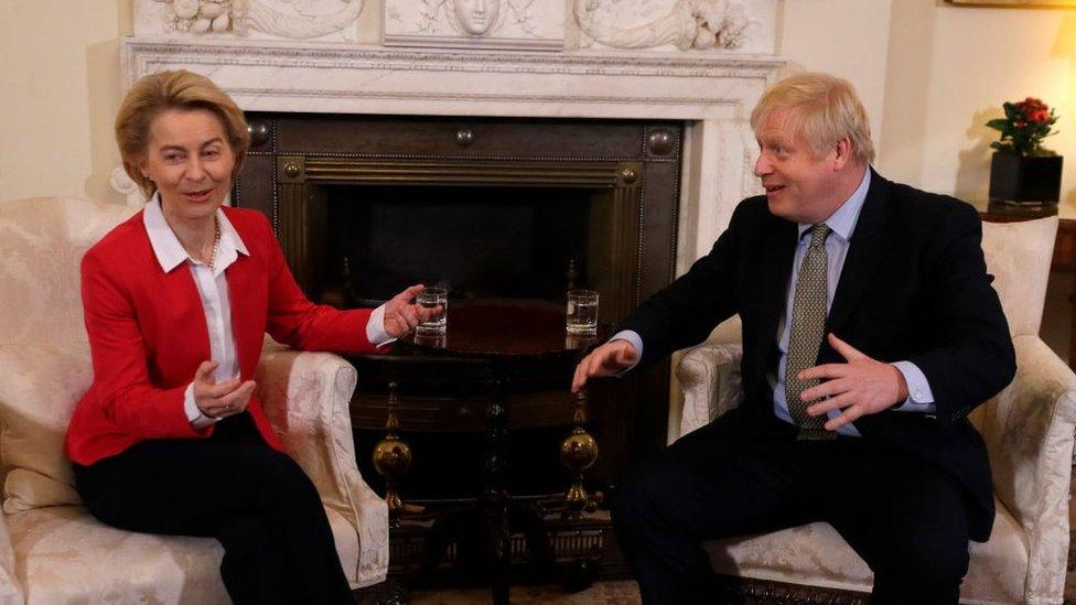 Ursula von der Leyen meets Boris Johnson