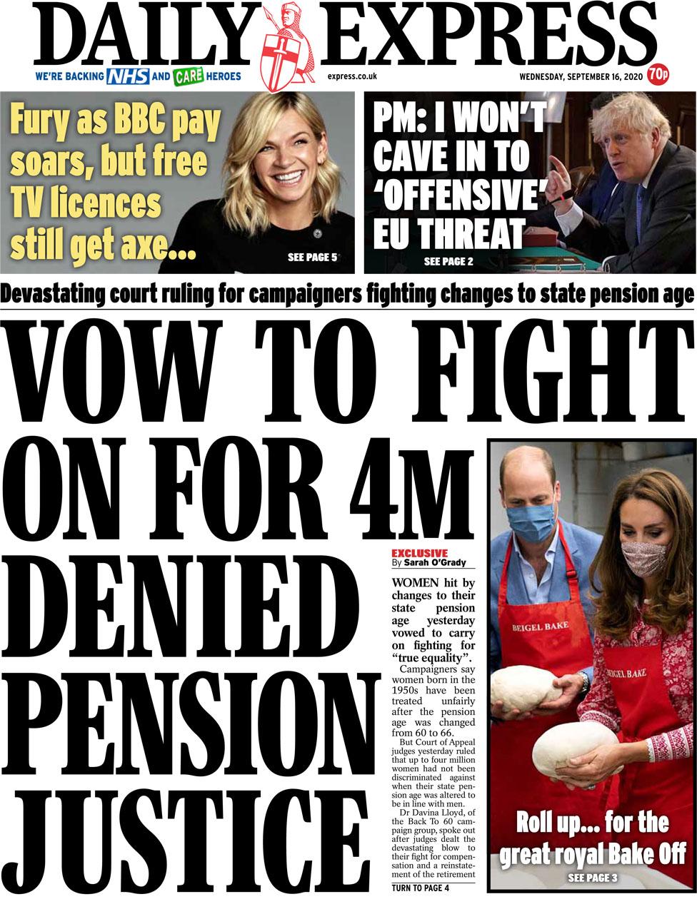 Daily Express 16 September