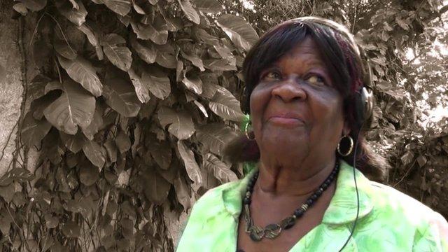 Louise Schwartz, a former showgirl in Jamaica