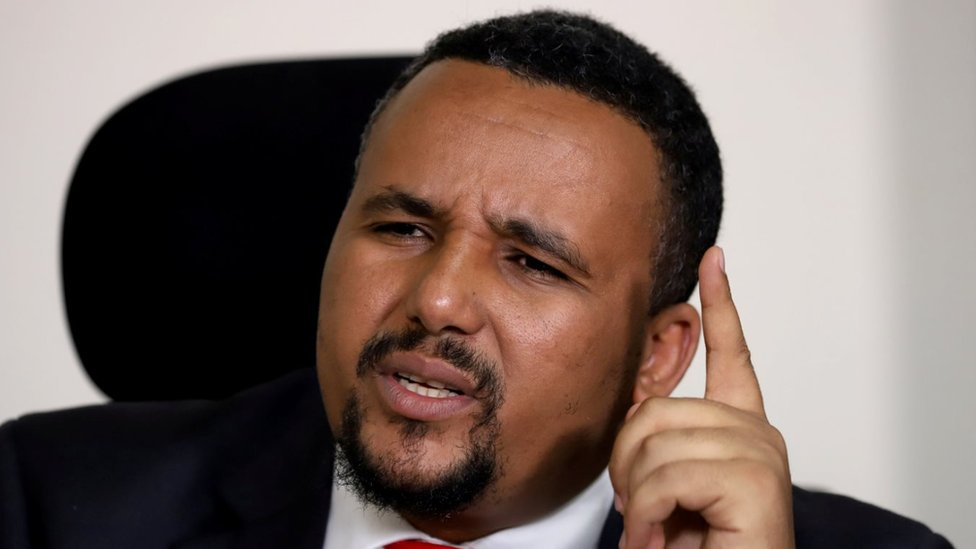 Jawar Mohammed, an Oromo activist and leader of the Oromo protest speaks during a Reuters interview at his house in Addis Ababa, Ethiopia October 23, 2019.