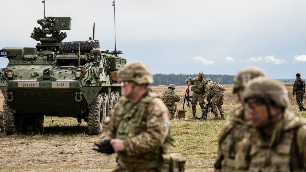 Las tropas estadounidenses forman parte del despliegue de la OTAN en Europa.