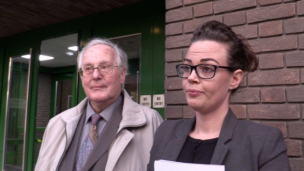 Brian Truan and his solicitor Emma Taylor