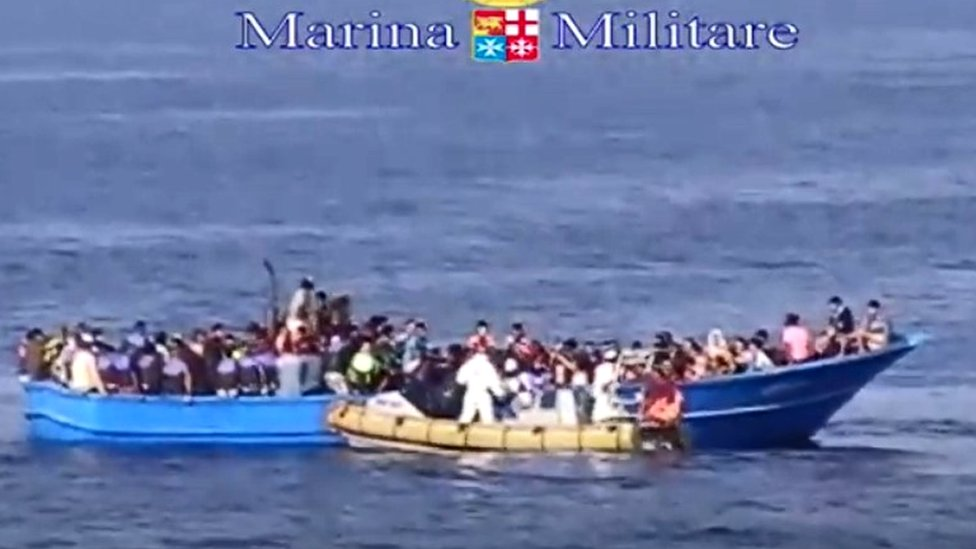The boat on which 49 people died