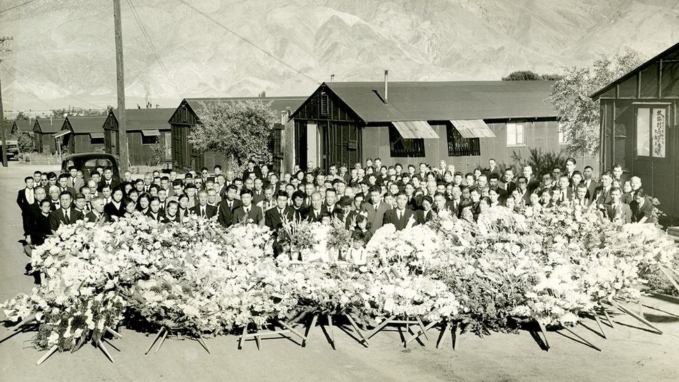 El funeral de Matsumura en 1945.