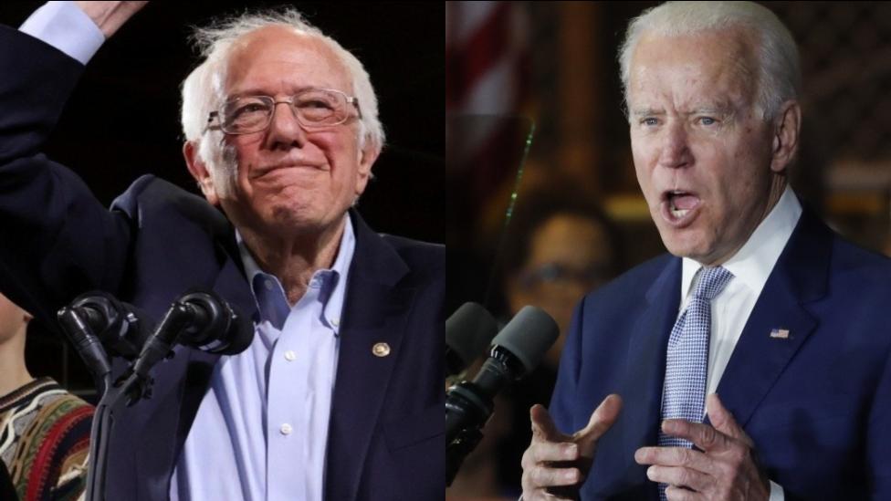 Sanders y Biden