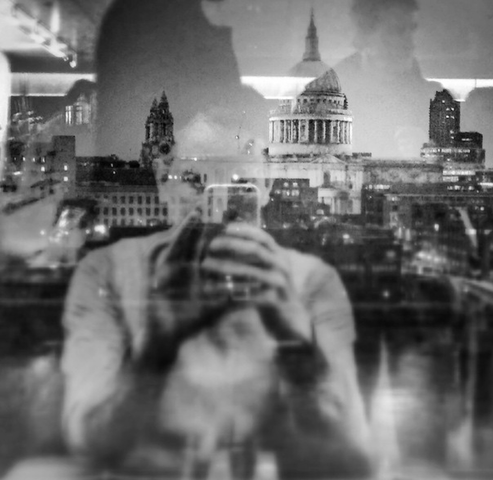A double exposure image of St Paul's