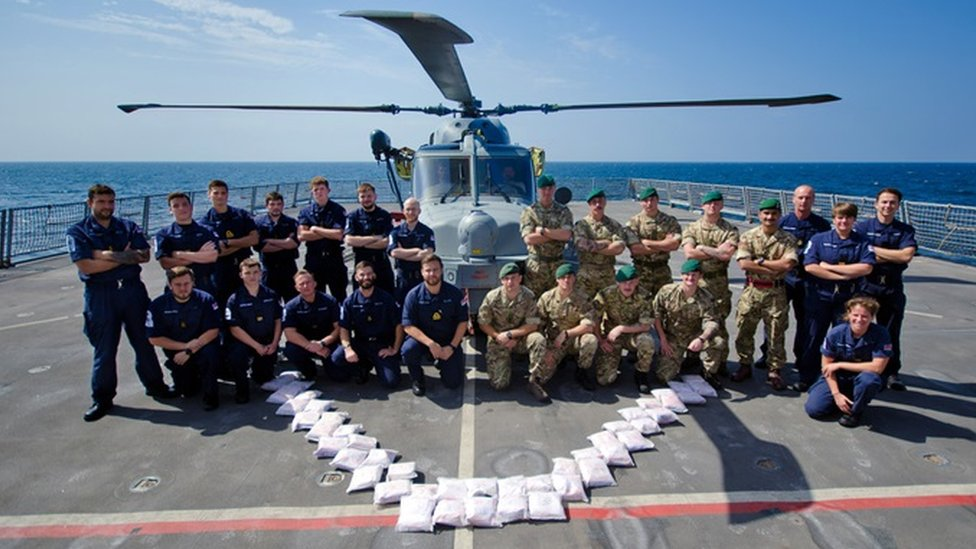 Portsmouth-based HMS Dragon seizes £9m of heroin in Gulf