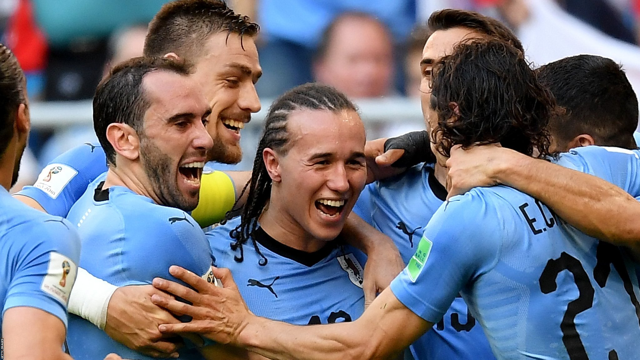 Suarez & Cavani score as Uruguay beat Russia to win Group A - highlights & report
