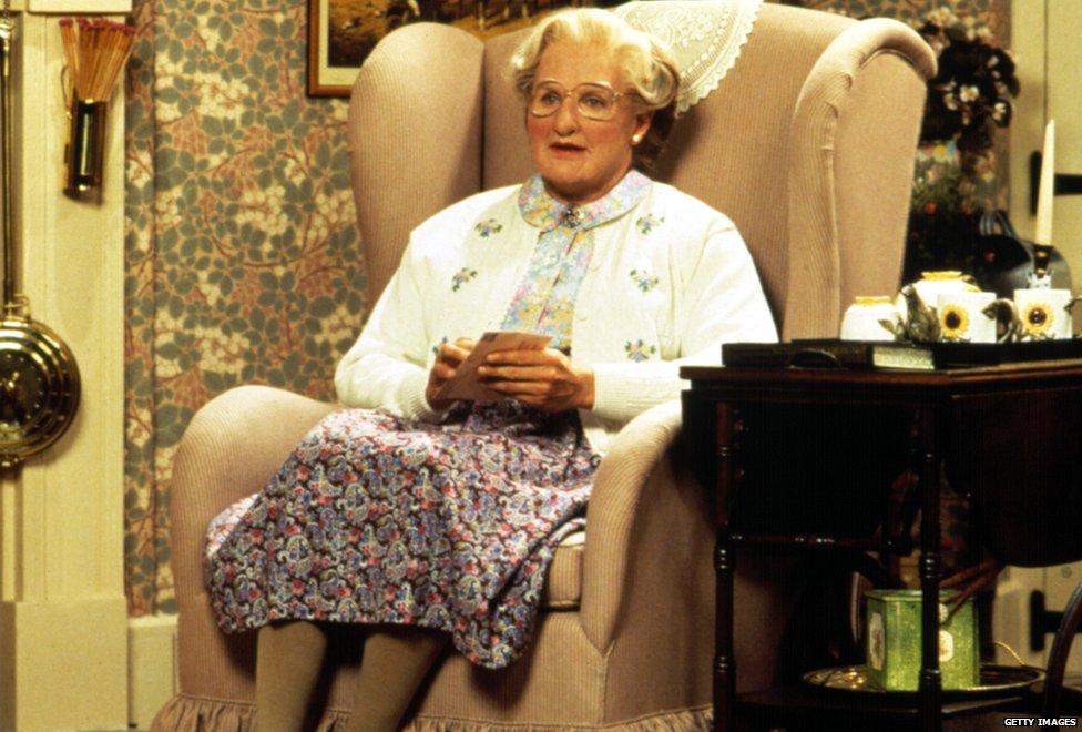 Robin Vilijams kao gospođa Dautfajer