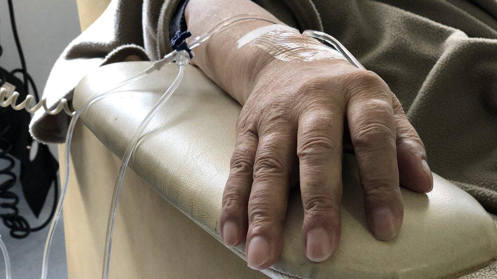 Seorang pasien kemoterapi