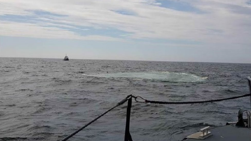 The Irish Sea after the paddle steamer sank