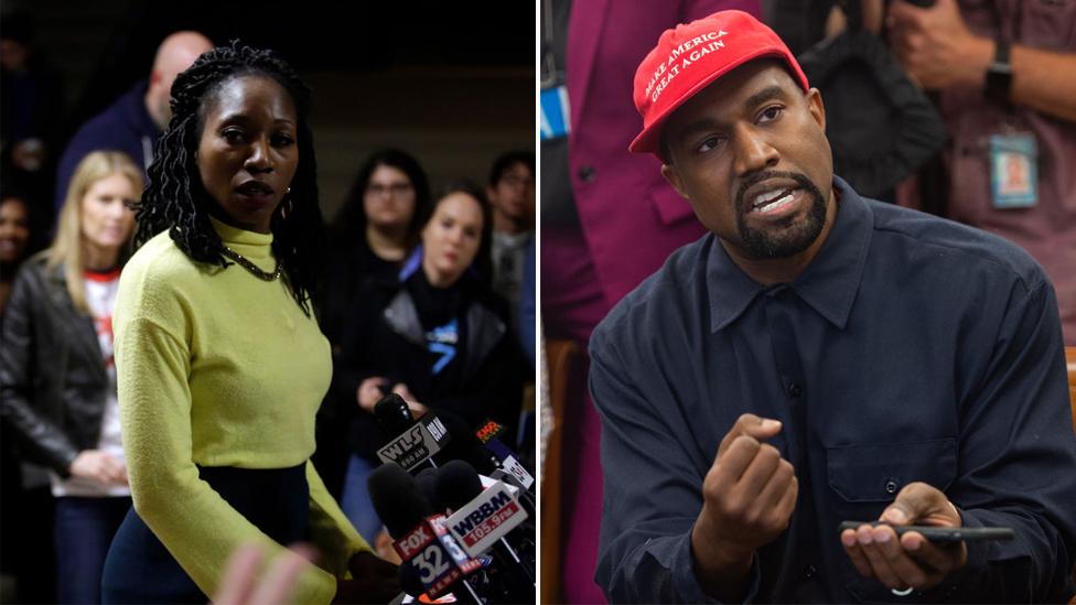 BBC News - Kanye West gives $73k to Chicago mayor candidate Amara Enyia