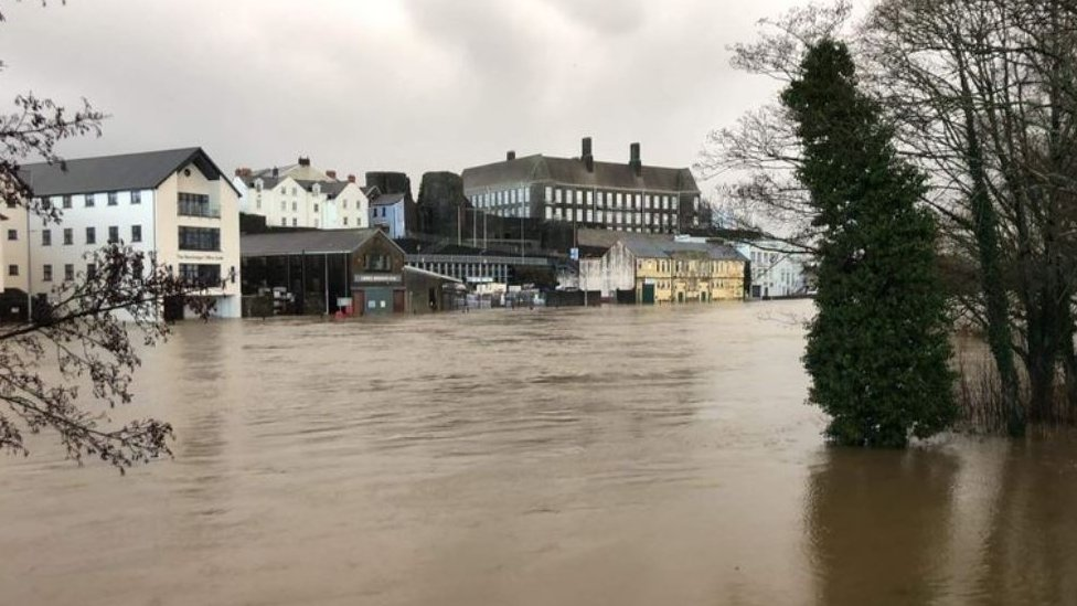 River Towy at Carmarthen