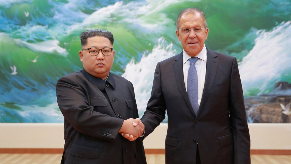 Russian Foreign Minister Sergei Lavrov meets with North Korean leader Kim Jong Un in Pyongyang,