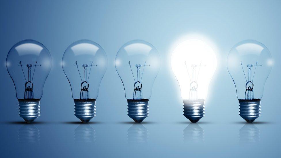 row of light bulbs