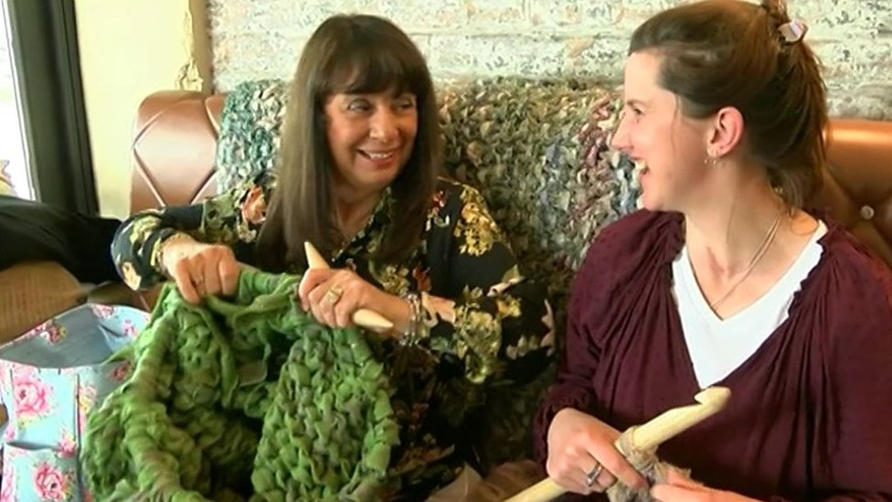 The 'big knitters' looking out for each other