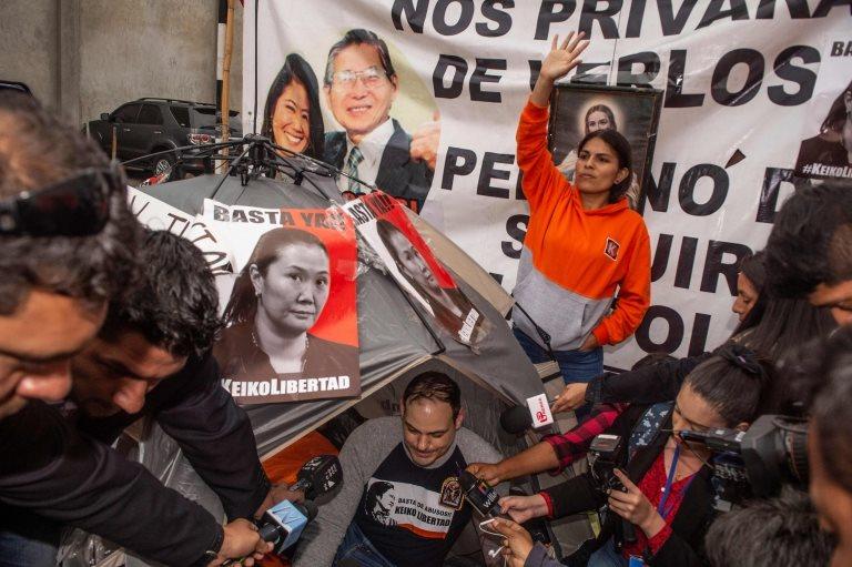 Protesta de simpatizantes de Keiko Fujimori
