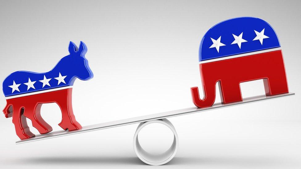 burro demócrata y elefante republicano
