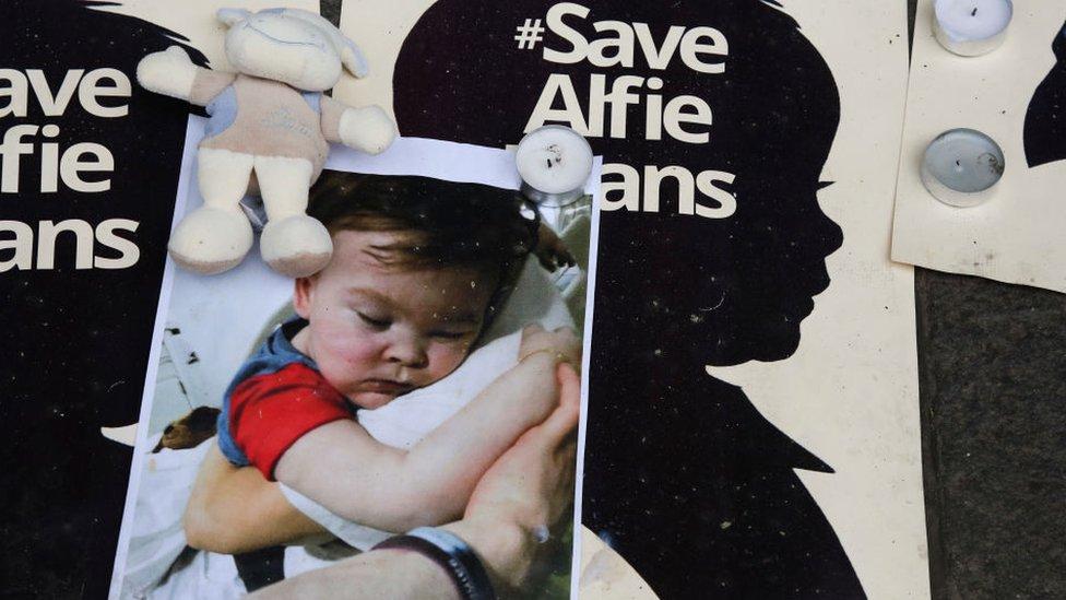 Save Alfie posters